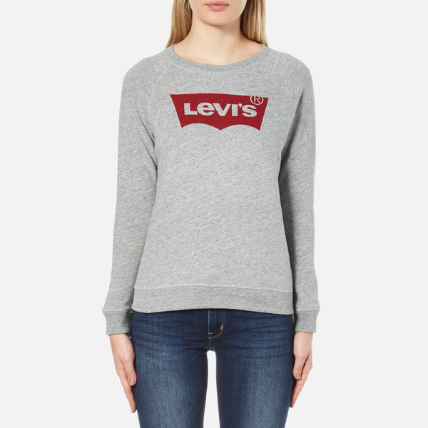 levi 39 s women 39 s classic crew sweatshirt smokestack heather damenbekleidung. Black Bedroom Furniture Sets. Home Design Ideas