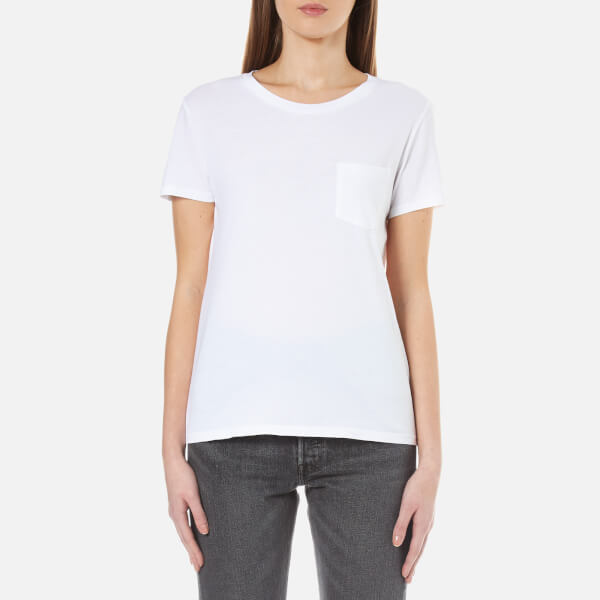 Levi 39 s women 39 s the perfect pocket t shirt white womens for White female t shirt