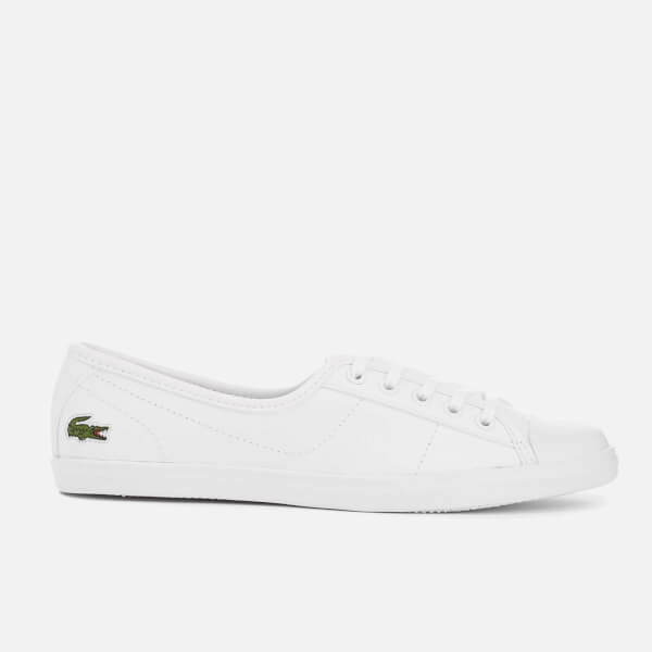 Lacoste Women's Ziane Leather Chunky Pumps - White