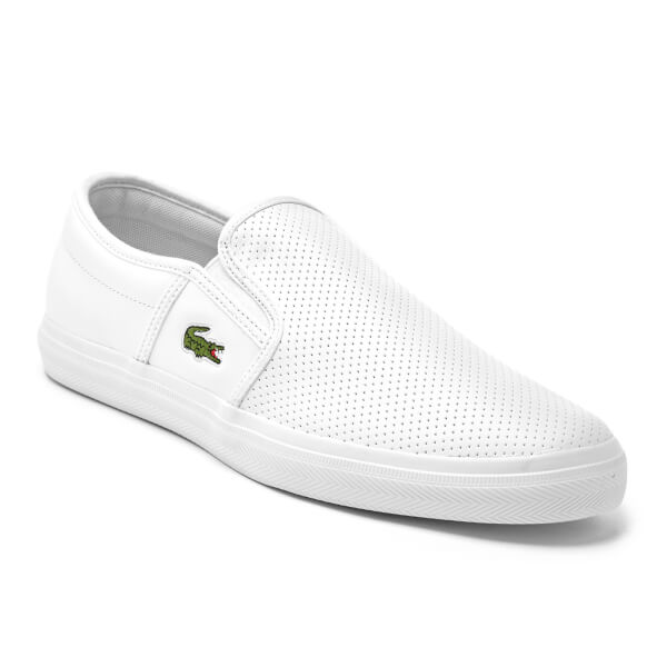 Lacoste MEN'S GAZON LEATHER SLIP-ONS GnwWMkf5