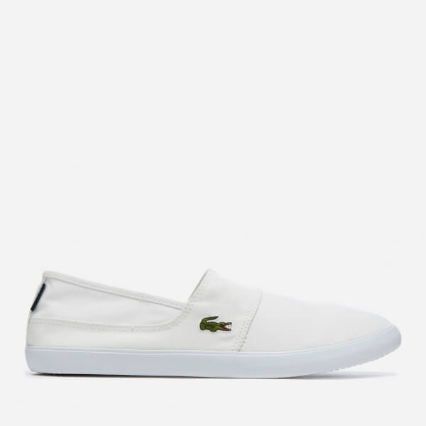 233d3a2c2 Lacoste Men s Marice Bl 2 Canvas Slip-On Pumps - White  Image 1