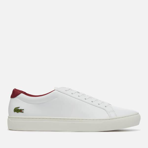 a64775cddfa4 Lacoste Men s L.12.12 117 2 Leather Cupsole Trainers - White Dark Red
