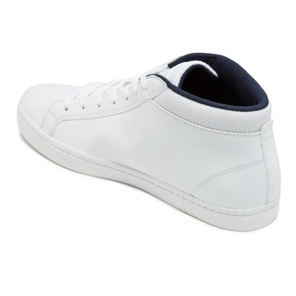 Lacoste Men s Straightset SP Chukka 117 1 Leather Mid-Top Trainers - White   Image b344256bbb7