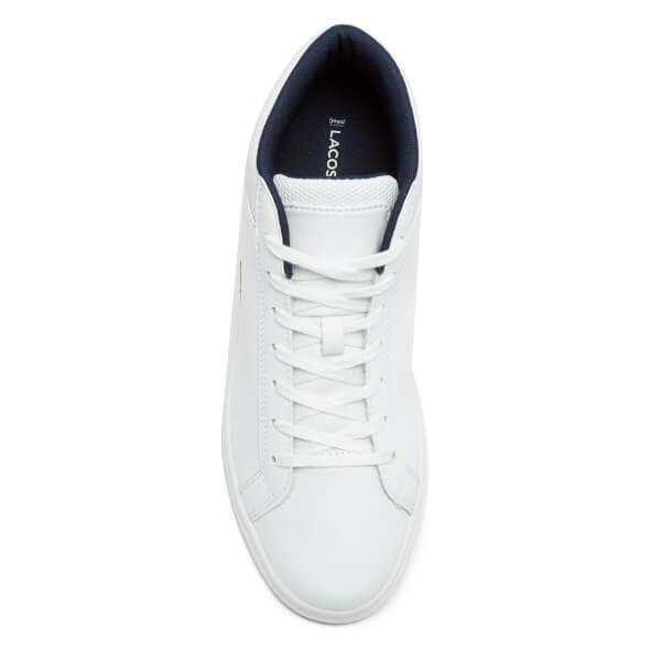 4cac9f6e6e6e0 Lacoste Men s Straightset SP Chukka 117 1 Leather Mid-Top Trainers - White   Image