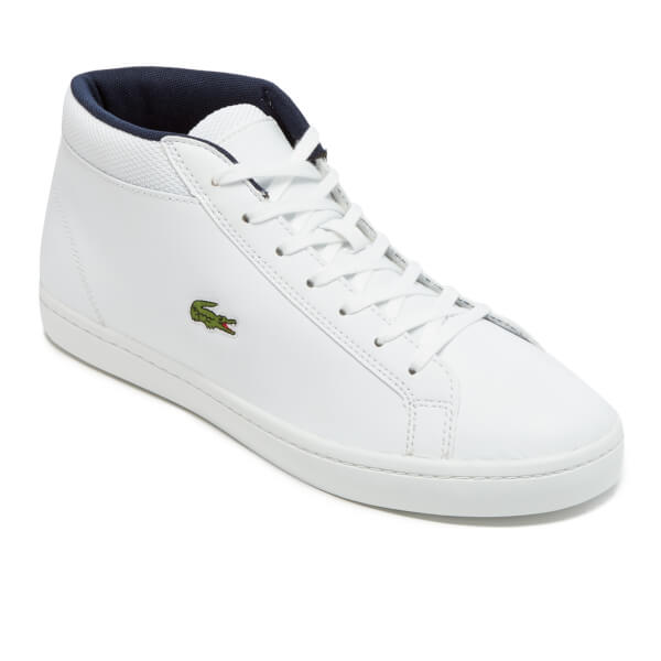 Lacoste Men s Straightset SP Chukka 117 1 Leather Mid-Top Trainers - White   Image 54fc9003ef3