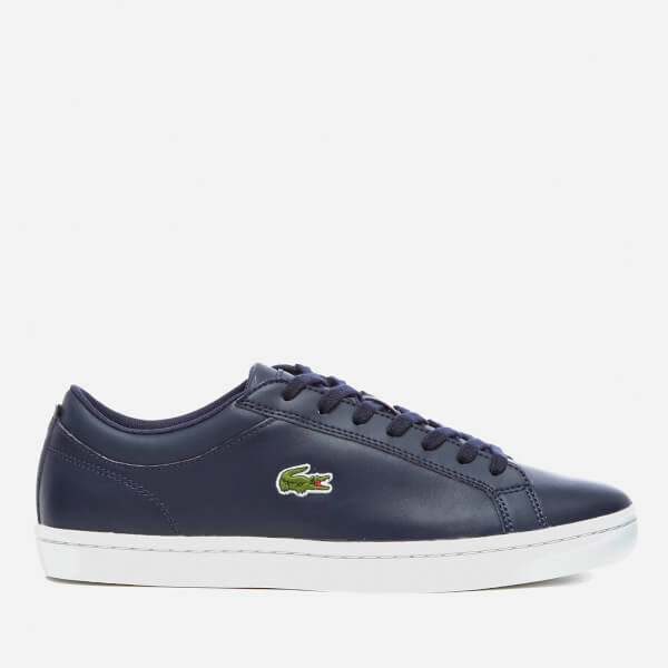 294dfa83e Lacoste Men s Straightset BL 1 Leather Cupsole Trainers - Navy  Image 1