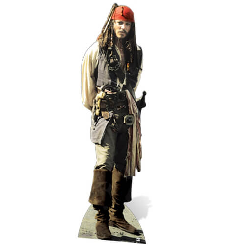 Pirates of the Caribbean Captain Jack Sparrow Life Size Cut Out