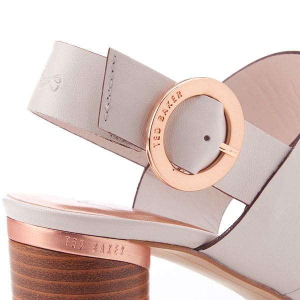 0b73817ac5686 Ted Baker Women s Azmara Leather Block Heeled Sandals - Light Grey  Image 5