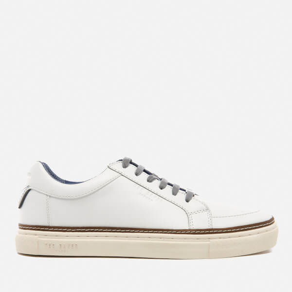 Ted Baker Men's Rouu Leather Cupsole Trainers - White: Image 1