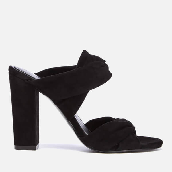 Kendall + Kylie Women's Demi Suede Double Strap Heeled Mules - Black