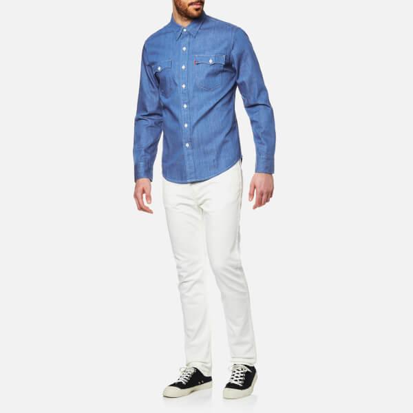 Levi 39 S Orange Tab Men 39 S Long Sleeve Shirt Baby Blue