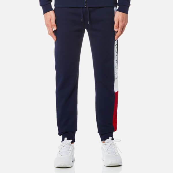 Tommy Hilfiger Men's Branded Jogging Pants - Navy Blazer: Image 1