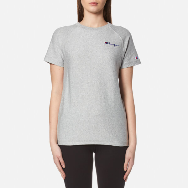 Champion Women s Crew Neck T-Shirt - Grey Womens Clothing  ac19d4d33