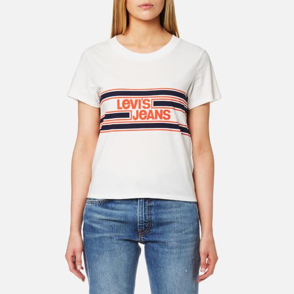 Levi s Women s Orange Tab Graphic Surf T-Shirt - Marshmallow Womens ... caa74b2d78