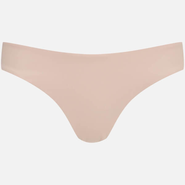 MINKPINK Women's Gold Lurex Full Coverage Bikini Bottoms - Nude/Gold