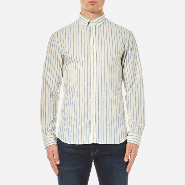 Selected Homme Men's Two Spun Long Sleeve Shirt - Forever Blue