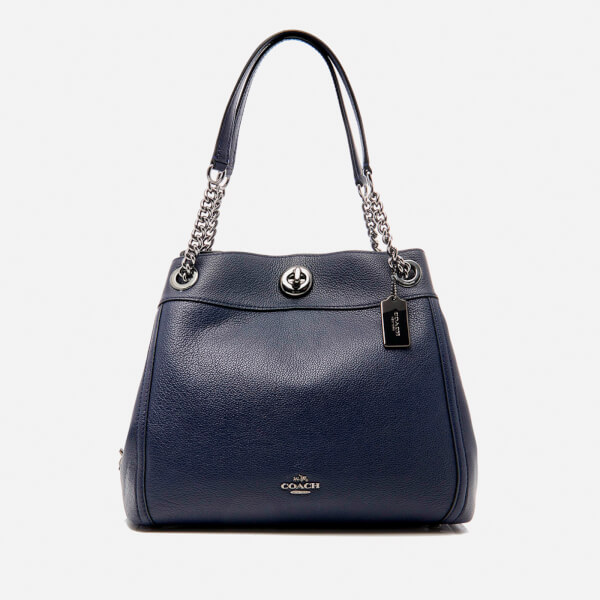 Coach Women's Turnlock Edie Shoulder Bag - Navy