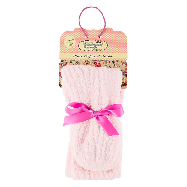 The Vintage Cosmetics Company Rose Infused Cosy Socks - Pink