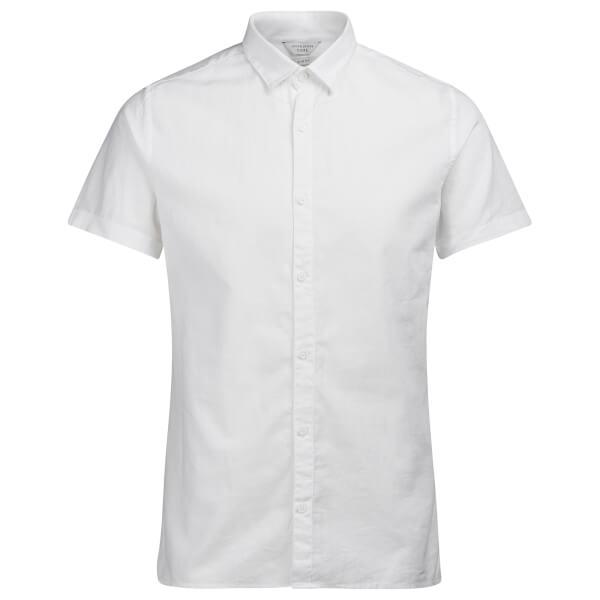 Jack & Jones Men's Core Phlake Short Sleeve Shirt - White