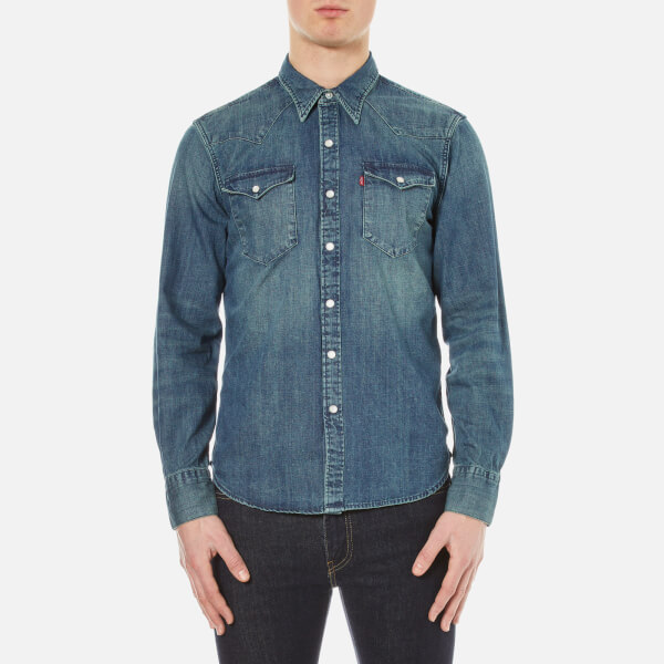 Levi's Men's Barstow Western Shirt - Sandy Tint Mid