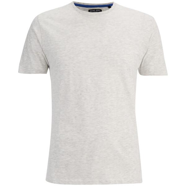 Brave Soul Men's Grail T-Shirt - Ecru Marl