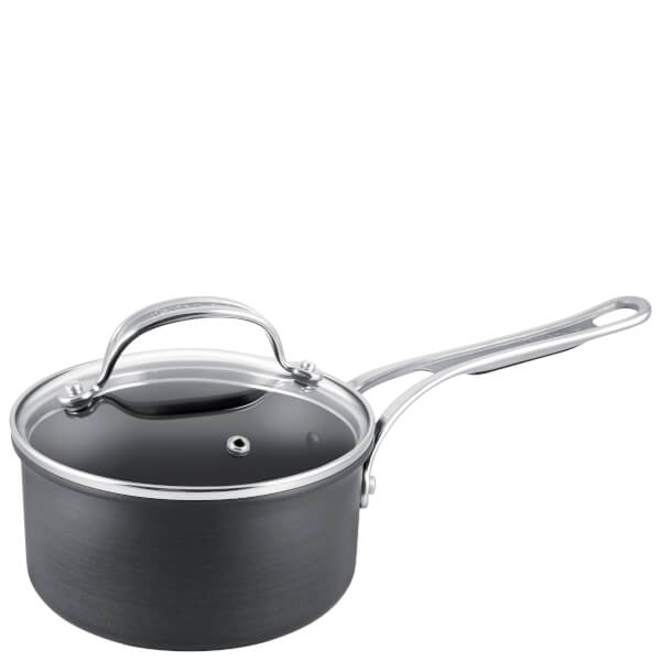 Jamie Oliver by Tefal H9022344 Hard Anodised Non-Stick Saucepan With Lid - 18cm