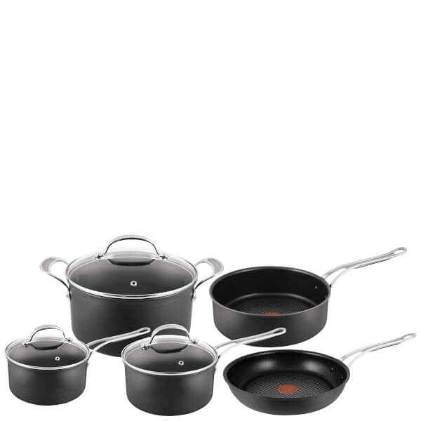 jamie oliver by tefal h902a544 hard anodised non stick 5 piece cookware set homeware. Black Bedroom Furniture Sets. Home Design Ideas