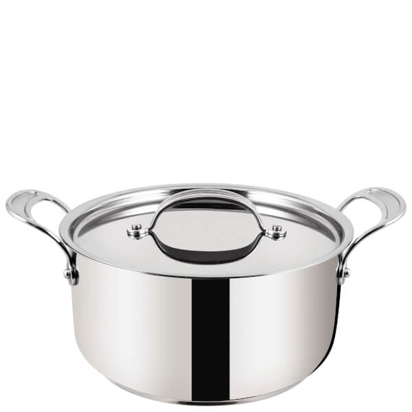 Jamie Oliver by Tefal H8044644 24cm Stainless Steel Non-Stick Stewpot With Lid - 24cm