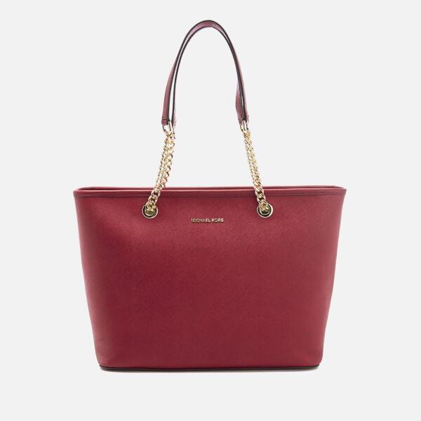 4a4a88b62ce99 MICHAEL MICHAEL KORS Women s Jet Set Travel Chain Top Zip Tote Bag -  Cherry  Image
