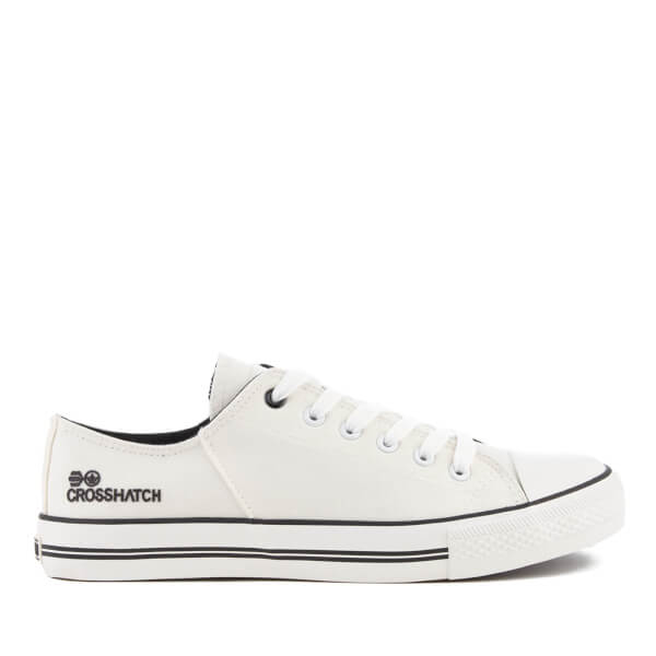 Crosshatch Men's Landslide Canvas Trainers - White