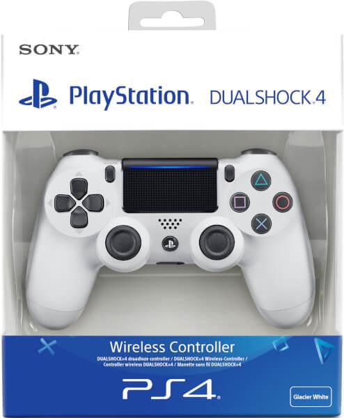 sony playstation 4 dualshock 4 v2 glacier white games accessories. Black Bedroom Furniture Sets. Home Design Ideas