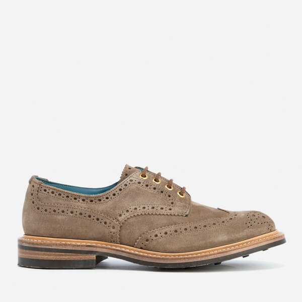 Knutsford by Tricker's Men's Bourton Suede Brogues - Visone