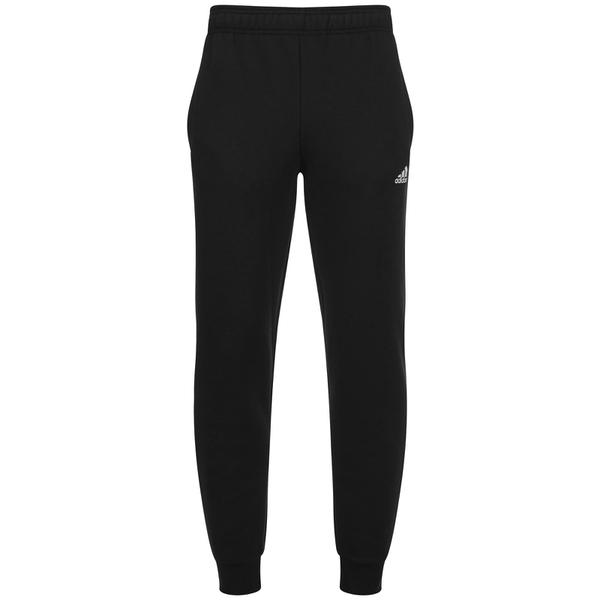 adidas Men's Essential Logo Cuffed Fleece Sweatpants - Black
