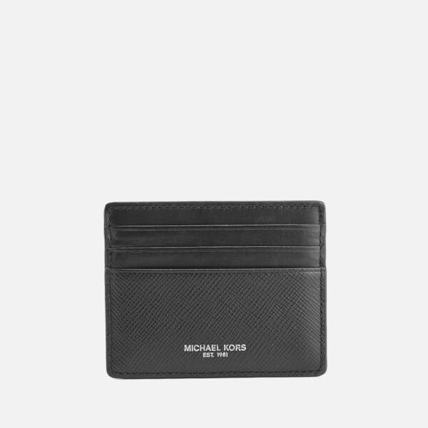 new arrival b02a2 57906 Michael Kors Men's Saffiano Harrison Tall Card Case - Black