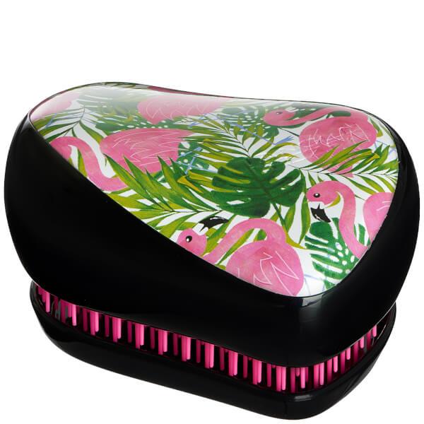Tangle Teezer Compact Styler Skinny Dip Hair Brush - Palm Print