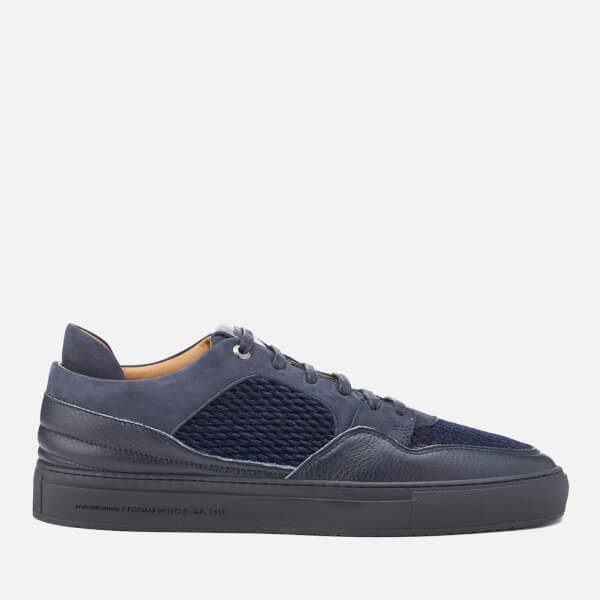 Android Homme Men's Omega Quilted Velvet Low Top Trainers - Navy