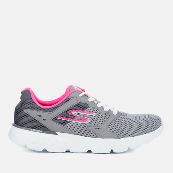 Skechers Women's Go Run 400 Trainers - Charcoal/Pink