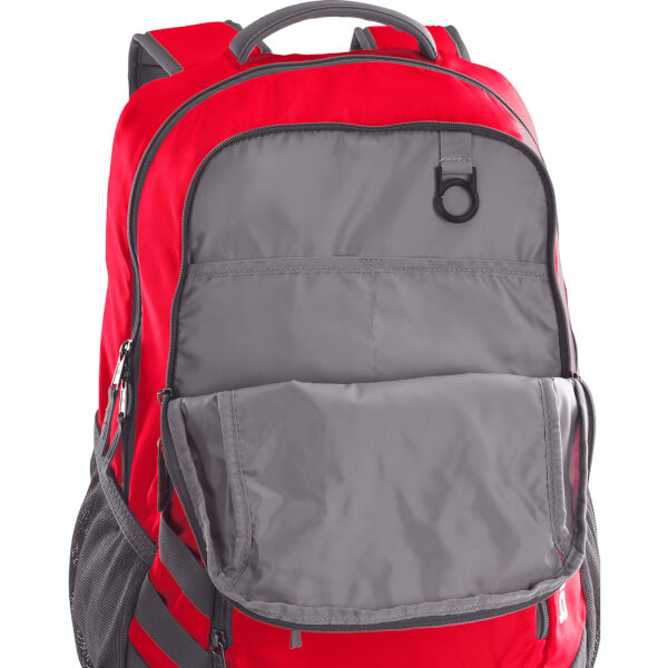 cd10acd226 Under Armour Hustle II Backpack - Red Graphite Sports   Leisure ...
