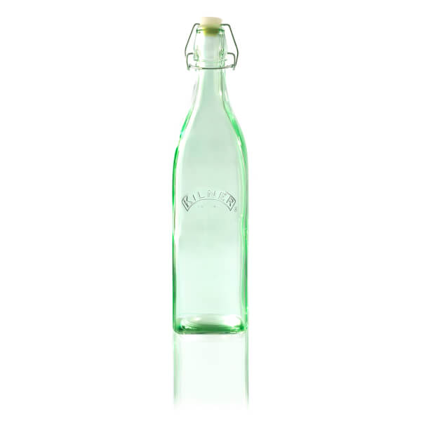 Kilner Clip Top Bottle - Green 1L