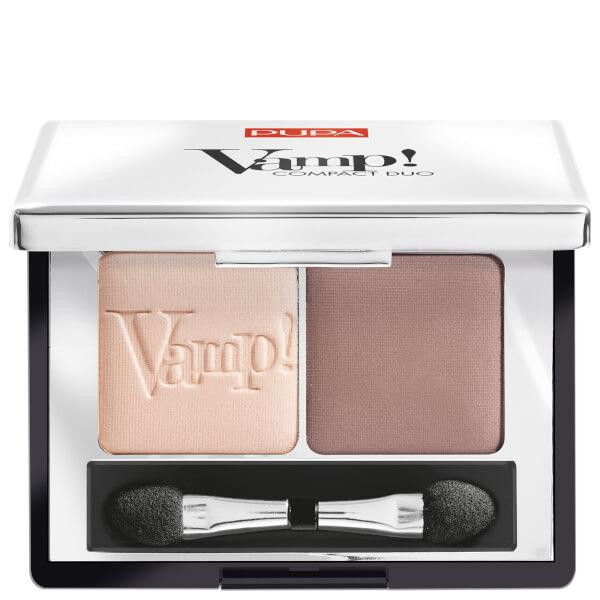 PUPA Vamp! Compact Eyeshadow Duo - Milk Chocolate