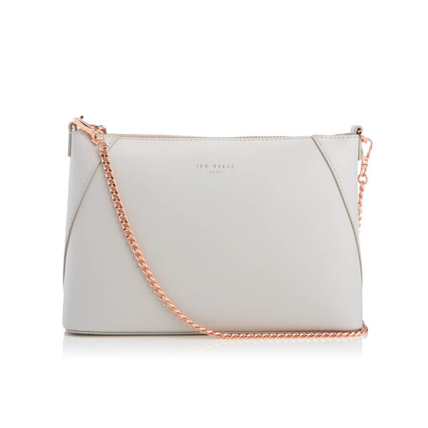 14ea09d27 Ted Baker Women s Chania Minigrain Chain Strap Cross Body Bag - Light Grey   Image 1