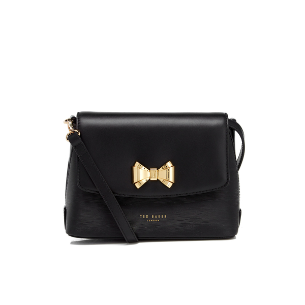 ea3784430 Ted Baker Women s Tessi Curved Bow Cross Body Bag - Black  Image 1