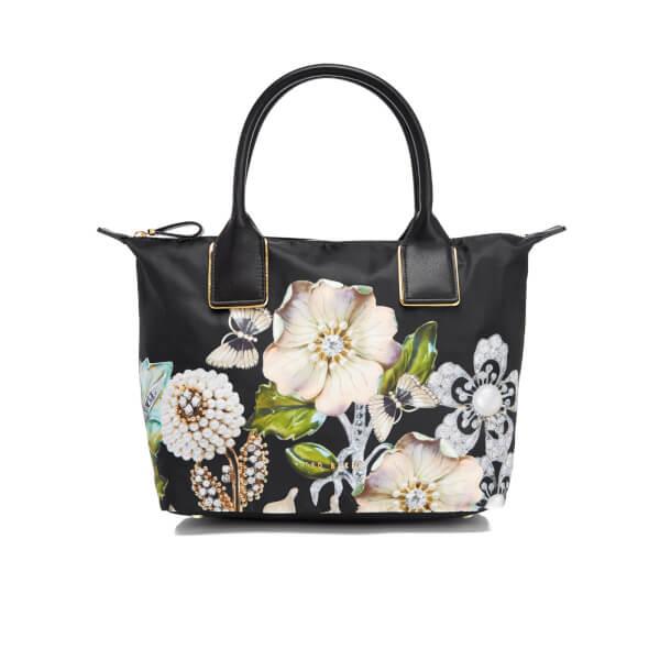 dd4be750d49 Ted Baker Women's Iyesha Gem Gardens Small Nylon Tote Bag - Black: Image 1
