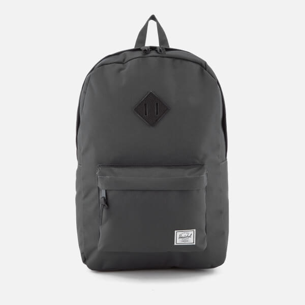 29be08a5d2 Herschel Supply Co. Heritage Backpack - Dark Shadow Black Pebbled Leather   Image 1