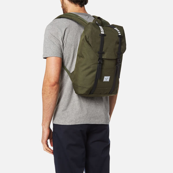 Herschel Supply Co. Retreat Mid-Volume Backpack - Forest Night Black Rubber  a66114d51b