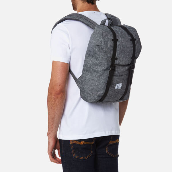 919e2d03fa84 Herschel Supply Co. Retreat Mid-Volume Backpack - Raven Crosshatch Black  Rubber