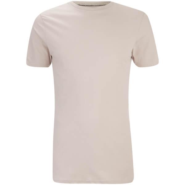 T-Shirt Homme Max Long Line Threadbare -Beige