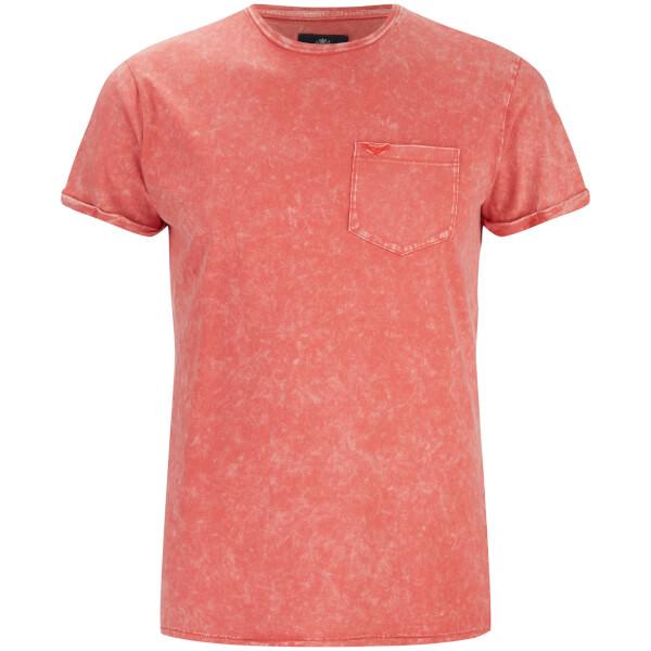 T-Shirt Homme Eureka Poche Threadbare -Corail
