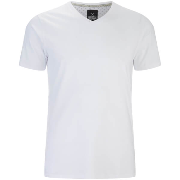 Threadbare Men's Charlie V-Neck T-Shirt - White
