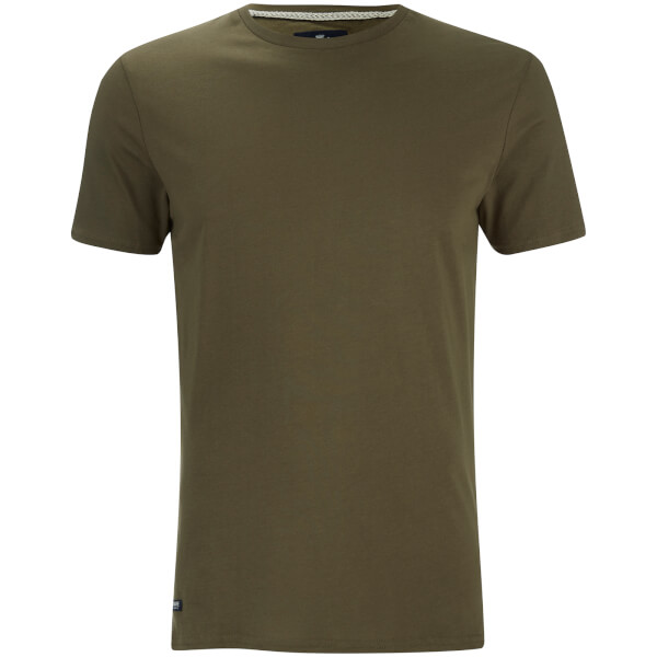 T-Shirt Homme Max Long Line Threadbare -Kaki